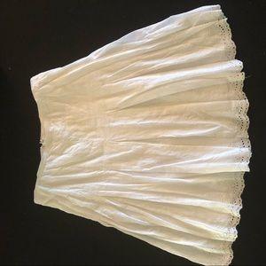 White Eyelet Skirt Size 8